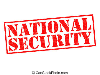 NATIONAL SECURITY red Rubber Stamp over a white background