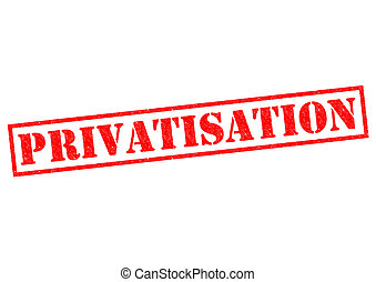 PRIVATISATION red Rubber Stamp over a white background.