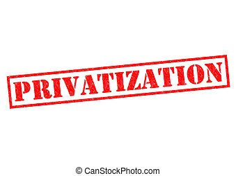 PRIVATIZATION red Rubber Stamp over a white background