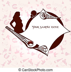 Romance and pregnancy  vector medallion