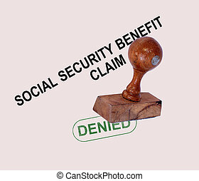 Social Security Claim Denied Stamp Showing Social...
