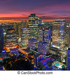 Bangkok night view - Bangkok cityscape. Bangkok night view...