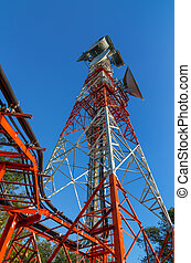 Telecommunication tower - Telecommunications tower, painted...