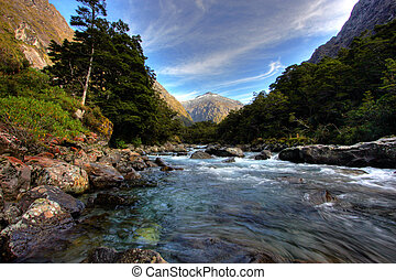mountain and river scenery