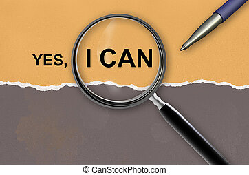 yes, i can and magnifying glass made in 2d software