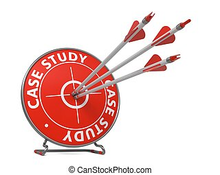 Case Study Concept - Hit Target. - Case Study Concept. Three...