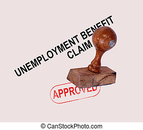 Unemployment Benefit Claim Approved Stamp Showing Social...