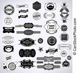 Set of vintage retro labels ?an be used for invitation,...