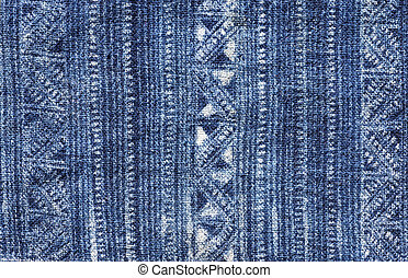 Blue Batik Cloth Pattern - blue indigo dyed batik cloth from...