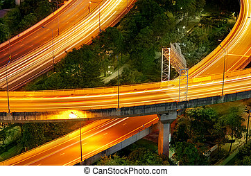expressway - Elevated expressway. The curve of suspension...