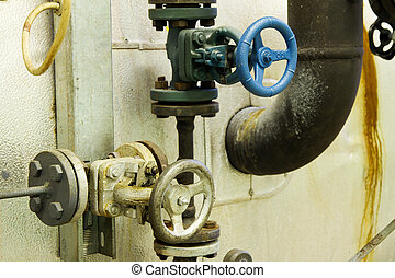 Steam pipes with pressure relief valves