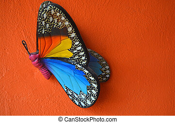 hand crafted multicolored butterfly - multicolored hand...