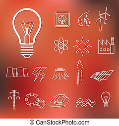 energy outline icons