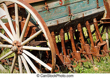 Old seeder Agricultural machinery