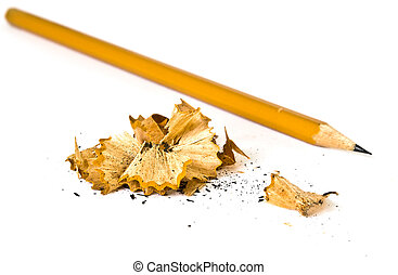 Artistic pencil and shavings - Artistic pencil shavings on...
