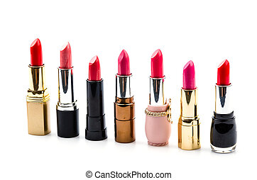 Lipstick isolated white background