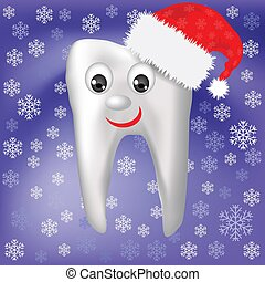winter tooth - colorful illustration with winter tooth for...