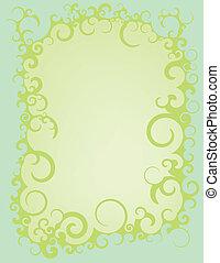 Blue Green Swirl Border