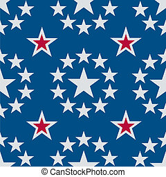 Seamless Stars Red White and Blue - A seamless pattern of...