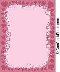 Swirly Valentine Border