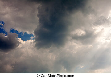 Stormy clouds - Dramatic sky with stormy clouds