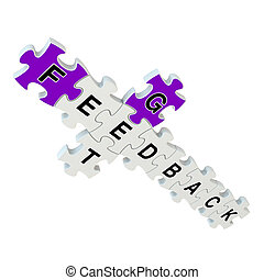 Get feedback 3d puzzle on white background