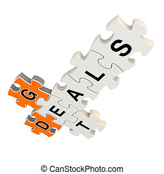 Get deals 3d puzzle on white background