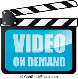 video on demand - detailed illustration of a clapper board...