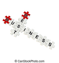 Best business 3d puzzle on white background