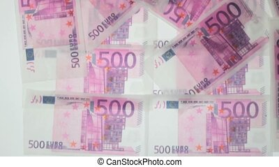 financial concept - Greedy hands grabbing money lot of euros