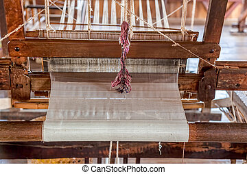 Inle Lake loom - Loom - traditional craft production of silk...