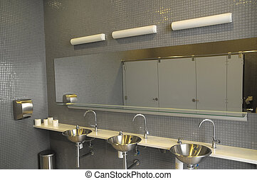 Interior of a Private Restroom - An Interior of a Private...