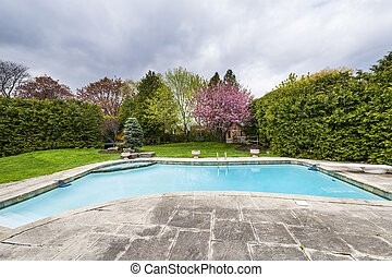 Backyard with pool