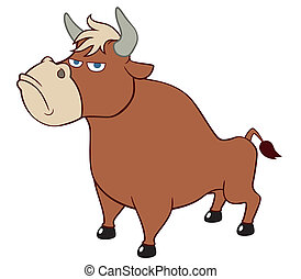 Cartoon bull - Vector illustration of cartoon bull