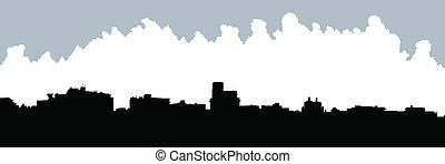 San Juan, Puerto Rico - Skyline silhouette of San Juan,...