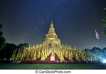 Pagoda at night - Pagoda Saraburi Thailand 500 Most...