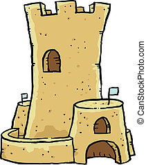 Sand Castle - A cartoon sand castle.