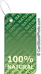 One hundred natural - vector illustration of label natural