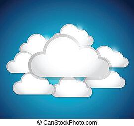 cloud set illustration design