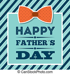 Fathers day design over blue background, vector illustration