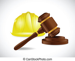 construction law illustration design over a white background