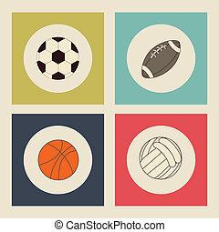 Sports design over beige background, vector illustration