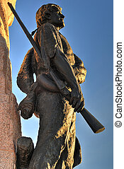 Mormon Battalion Monument, Salt Lake City, Utah - Soldier...