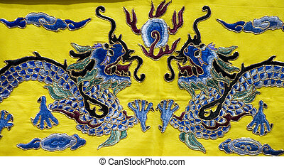 chinese embroidery dragon