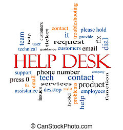 Help Desk Word Cloud Concept with great terms such as...