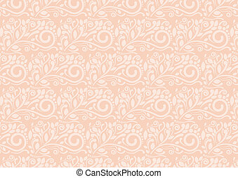 Sweet Flora abstract retro pattern background