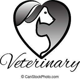 Veterinary pets heart logo