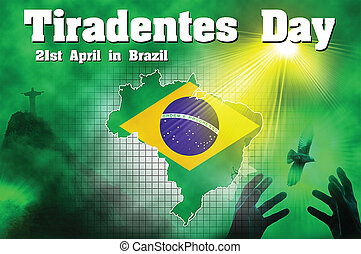 Tiradentes Day in brazil - creative created in Photoshop as...