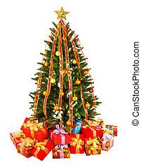 Geschenke, baum, Weihnachten