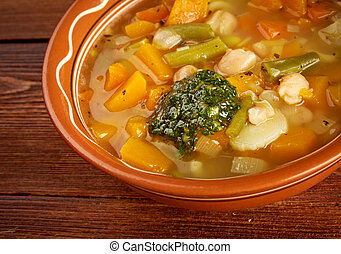 Soupe au Pistou - rench vegetable soup